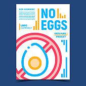 No Eggs Meal Creative Advertising Poster Vector