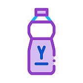 bottle of drinking yogurt icon vector outline illustration