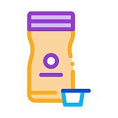 store cream icon vector outline illustration