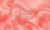 Coral background. Vector illustration. Pink fluid