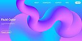 Fluid Colors. Liquid Shape. Ink Splash. Vector.