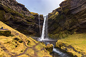 Kvernufoss waterfall in the south of Iceland