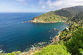 View of the sea between Donostia and Pasaia in the Basque Country
