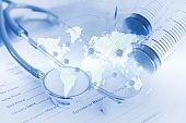 Medical concept Global epidemics and treatment