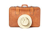 Old Suitcase With Hat