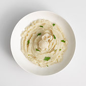 Homemade Cauliflower Puree or Colcannon with Mashed Cabbage