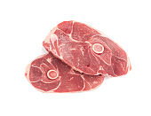 Raw Lamb Chops, Mutton Cuts or Sheep Ribs Isolated