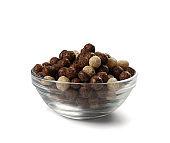 Chocolate Vanilla Breakfast Cereal Balls Mix or Breakfast Spheres