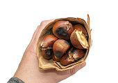 Grilled Sweet Chestnuts, Healthy Autumn and Christmas Food