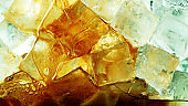 Detail of cola drink with ice cubes