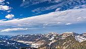 Winter landscape in the Allgaeu alps, Bavaria