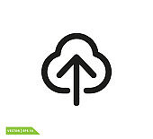 Download upload icon vector design template