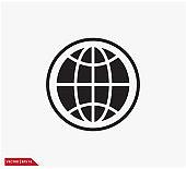Globe icon vector logo design illustration