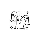 Halloween fear ghost horror nightmare paranormal spooky icon. Element of Hallowe
