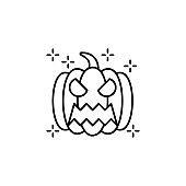 Halloween fear horror pumpkin scary spooky icon. Element of Halloween icon