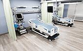 Modern medical bed and ventilator