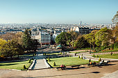 View over Paris from top of monmartre