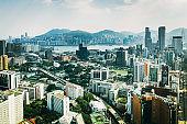 Drone view of Hongkong, China