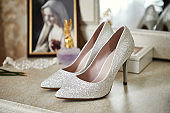 high heel wedding shoes as bridal accessories