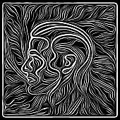 Illusion of Woodcut Design
