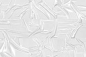 Blank transparent plastic foil wrap overlay mockup, gray background
