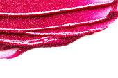 Lipstick stroke isolated on white background. - Image