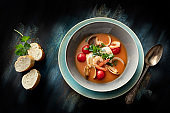 Seafood: Fish Stew Still Life