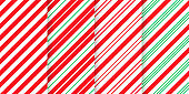 Candy cane seamless pattern. Christmas stripe background. Vector illustration.