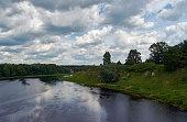 Luga River in Kingisepp, Leningrad Oblast
