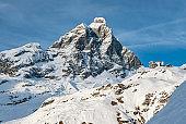 Landscape of Matternhorn mountain in the Italian alps