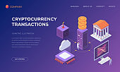 Landing page for cryptocurrency transactions