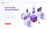 Landing page for software development