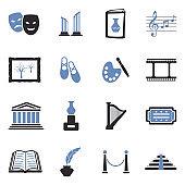 Art Icons. Two Tone Flat Design. Vector Illustration.