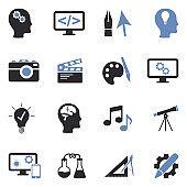 Creative Icons. Two Tone Flat Design. Vector Illustration.