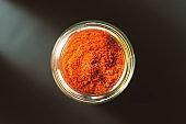 Red pepper in glass jar