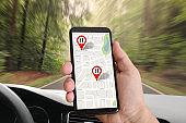 Road map GPS navigation mobile phone