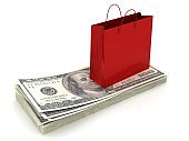 Shopping bag money credit finance