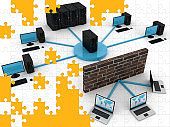 Computer network security firewall cyber technology