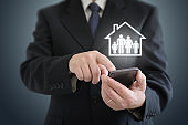 Risk home insurance protection family house