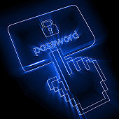 Network security internet cyber protection lock
