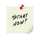 Start now motivation decision message note