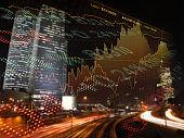 Finance investment stock market chart fintech ticker board