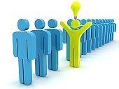 Different idea leadership brainstorming