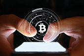 Bitcoin blockchain cryptocurrency mobile phone cyber network internet