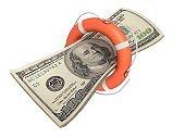 Money help insurance lifebelt