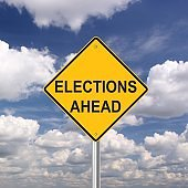 Elections ahead sign