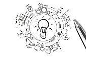 New creative idea light bulb