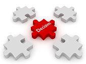 Decision choice different solution puzzle