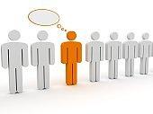 Social media people communication message speech bubble
