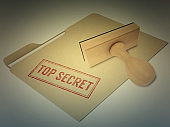Top secret security privacy confidential rubber stamp